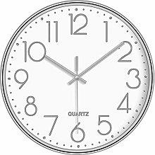 Mogzank Non-Ticking Silent Wall Clocks 12 Inch
