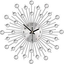 Mogzank Silver Tone Modern Wall Clock for Living