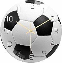 Mogzank Soccer Acrylic Silent Wall Clock Bedroom