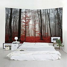 mohanshop 3D Tapestry Psychedelic Forest Mandala