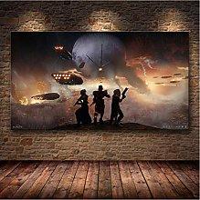 mohanshop Print On Canvas Frameless Destiny 2
