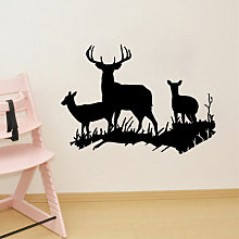Mohoo - Removable Deer Animal Wall Decals Wall