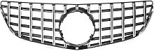 Mohoo - Silver GTR Front Grille Grill For Mercedes