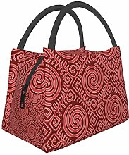 Mola Red Turtle Lunch Bag Insulated Lunch Tote