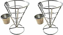 Moligh doll 2PCS French Fry Stand Cone Basket