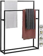 MOLIH Towel Rack Stand for Bathroom Floor, Metal