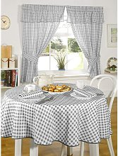 Molly Charcoal Gingham Check Kitchen Curtains