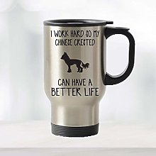 Mom and Dad Coffee Mug Cup Chinese Crested Travel