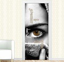 Moment, Eye Door Sticker East Urban Home