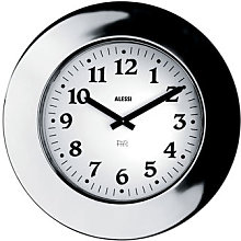 Momento Wall clock by Alessi White,Steel