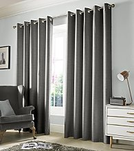 Monaco Blackout Lined Eyelet Curtains, Dove Grey,