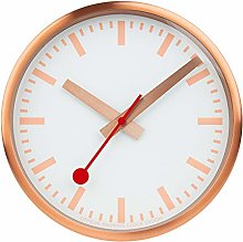 Mondaine, Wall Clock, 25 CM, Copper Clock for