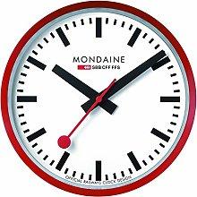 Mondaine Wall Clock, Red Kitchen Clock,