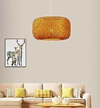 Mondeer Restaurant Rattan Linen Ceiling Light, E27