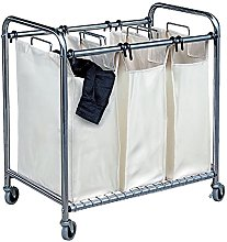 Mondex inx415-00Trolley Laundry Basket with