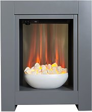 Monet Fireplace Suite in Grey with Electric Fire,