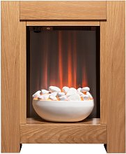 Monet Fireplace Suite in Oak with Electric Fire,