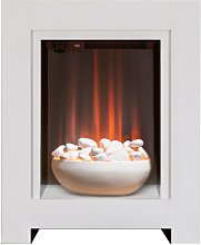 Monet Fireplace Suite in Pure White with Electric
