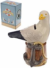 MONEY BOX Collectable Ceramic Seagull Shaped Cute