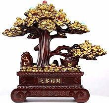 Money Tree Suitable For Desktop Decoration, Gold