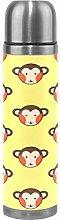 Monkey Yellow Art Water Bottle Stainless Steel