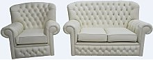 Monks Thomas Chesterfield 2+1 Seater Cottonseed