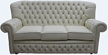 Monks Thomas Chesterfield 3 Seater Sofa Cottonseed