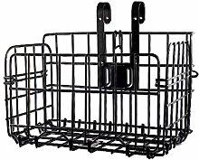 Monkys Bicycle Front Basket,Foldable Hanging Metal