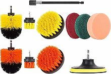 Monland 11Pcs Drill Brush Attachment Set Scrubbing