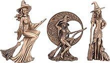 Monland 3Pcs/Set Retro Witch Statue Craft Hook