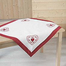 MonLisa Red Square Tablecloth 85 x 85 cm