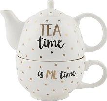 Monochrome Time 2 Piece Stoneware Tea Set Sass and