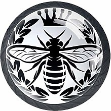 Monochrome Wreath Insect and Crown Abstract Bee