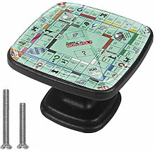 Monopoly Game Cabinet Dresser Drawer Knobs Glass