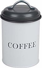 Monsoon Airtight Coffee Canister White & Grey