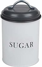 Monsoon Airtight Sugar Canister White & Grey