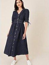 Monsoon Dolly Denim Dress - Indigo