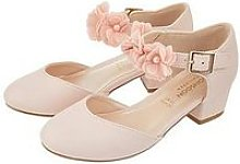 Monsoon Macaroon Pink Corsage Two Part Shoe - Pale