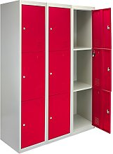 MonsterShop 3 x Storage Filing Locker Cabinet