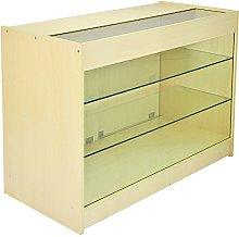 MonsterShop K1200 Lockable Glass Shop Counter
