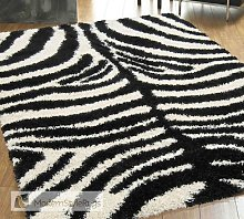 Mont Blanc Mb11 Zebra Black and Cream Rug Made