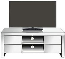 Monte Carlo Ready Assembled Mirrored Tv Unit -