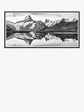 Monte Rosa - Framed Print & Mount, 56 x 101.5cm,
