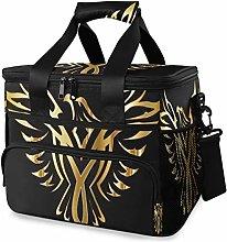 MONTOJ Awesome Gold Phoenix Bird Tote Cooler Bag