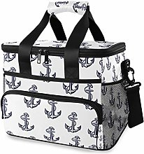 MONTOJ Cool Anchor Pattern Tote Cooler Bag Lunch