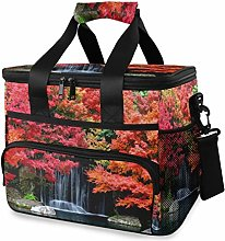 MONTOJ Cool Autumn Waterfall Picture Tote Cooler