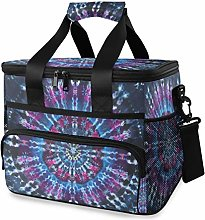 MONTOJ Cool Colorful Dye Tie Tote Cooler Bag Lunch