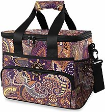 MONTOJ Cool Paisley Floral Pattern Tote Cooler Bag