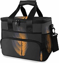 MONTOJ Gold Feather Tote Cooler Bag Lunch Bag for