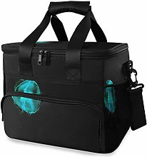 MONTOJ Green Jellyfish Tote Cooler Bag Lunch Bag